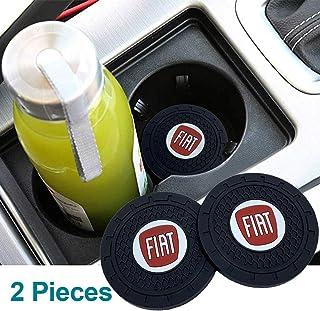 Porta-copos Fiat para automobilismo com encaixe para copo de 7,9 cm, porta-copos de 7,9 cm, logotipo do carro resistente, ...