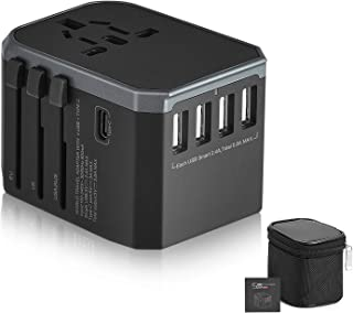 Xcellent Global Universal Travel Adapter 4 USB Ports All in one Wall Charger, 2000W International Plug, Worldwide Wall Plu...