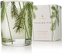 Thymes - Fragrant Frasier Fir Votive Candle with 15-Hour Burn Time - 2 Ounces