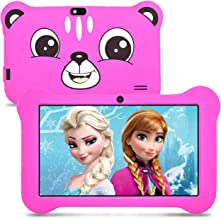 Kids Tablet, 2GB RAM 16GB ROM, Android 9.0 Tablet for Kids, 7 inch HD IPS Display Kids Edition Tablet with Kids-Proof Case, Parental Control WiFi Dual Camera and Learning Games, Pink