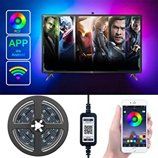 TV Backlight LED Strip Lights with APP Controlled Metaku 6.5ft Waterproof USB LED Tape Lights Monitor Ambient Lighting Bia...