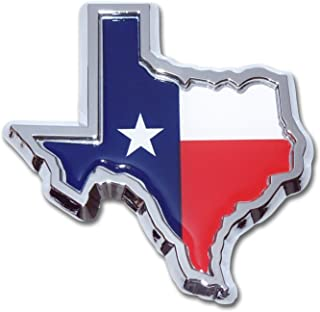 State of Texas Colored Flag Chrome Auto Emblem