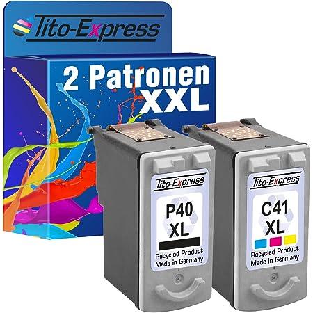 Tito Express Platinumserie Farbset 2 Patronen Für Canon Pg 40 Xl Cl 41 Xl Pixma Mx300 Mp210 Mp220 Mp450 Mp460 Mx300 Mx310 Bürobedarf Schreibwaren