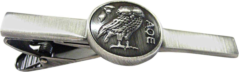 Centered Owl of Athena Tie Clip