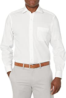 Buttoned Down mens Classic Fit Spread-collar Stretch Non-iron Dress Shirt