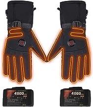 Verwarmbare handschoenen met accu, elektrische verwarmde motorhandschoenen voor mannen en vrouwen, instelbare temperatuur,...