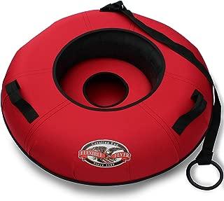 Flexible Flyer Heavy-Duty Commercial Snow Tube. Hard Plastic Bottom Inflatable Adult Sled