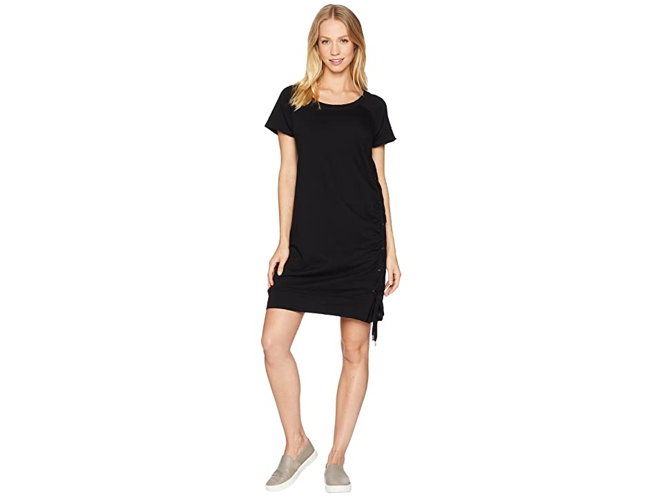 Sanctuary Bryce Lace-Up Dress (Black) Women