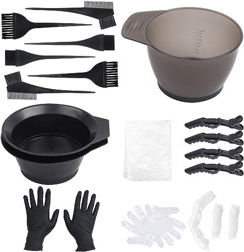 Umitive 16 Pcs Kit Teinture Cheveux, Kit Coloration Cheveux inclus Pinceau et Bol de Teinture, Brosse à Double Culot,...