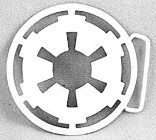 Imperial White Logo Belt Buckle Rock Rebel Lucas Films Costume Metal