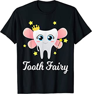 Tooth Fairy Shirt Funny Halloween Costume Gift Dentist Girl T-Shirt