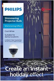 Create Instant Holiday Effects LED Shimmering Projector Bulb (Cool White)