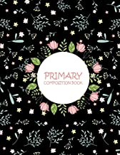 """Primary Composition Book: Black Wide Ruled Primary Composition Notebook 120 Pages Large Print 8.5"""" x 11"""" Kids School Noteb..."""