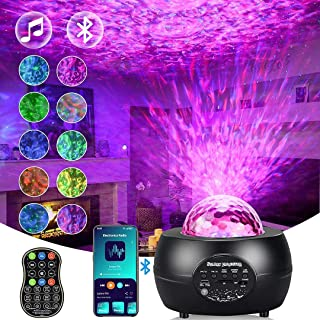 Gluckluz Baby Star Projector Decoration Lighting with Remote Control Sound Activated for DJ Party Stage Wedding Birthday H...