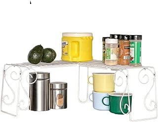 Trenton Gifts Expandable 1 Tier Kitchen Corner Shelf Organizer | Space Saver
