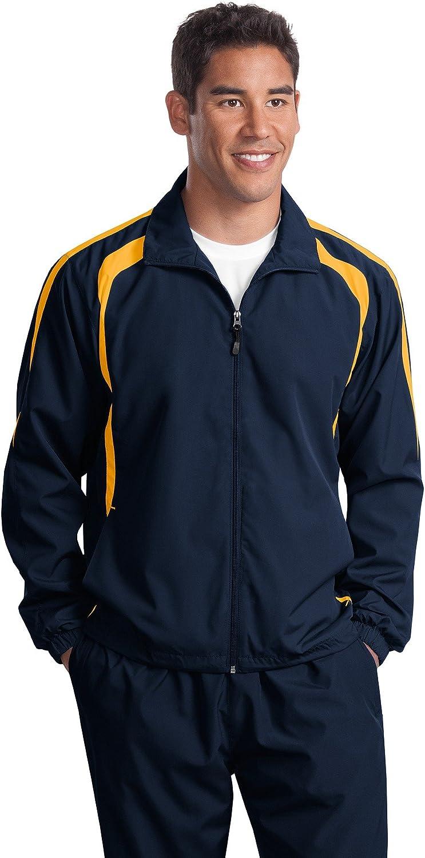 Sport-Tek Men's Big And Tall Colorblock Raglan Jacket_Tr Navy/Gold_4XLT