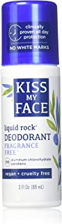 Kiss My Face Natural Liquid Rock Deodorant, Fragrance-Free, 3 oz (Pack of 3)