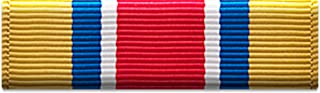 Slide-on Ribbon with Mounting bar: ARMY RESERVE COMPONENTS ACHIEVEMENT