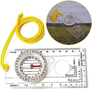 REYOK Brújula de Alta precisión para Exteriores Brújula Orientación Impermeable de Cuello y Lupa Lectura Mapa de Expedició...