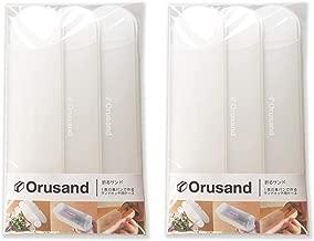 折るサンド 3コ入りセット品 orusand 1枚の食パンで作るサンドイッチ用折りたたみケース (クリア&クリア, 2)