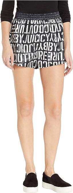 Juicy Stencil Logo Nylon Shorts