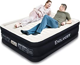 Englander First Ever Microfiber Queen Air Mattress, Luxury Microfiber airbed with Built in Pump, Highest End Blow Up Bed, ...