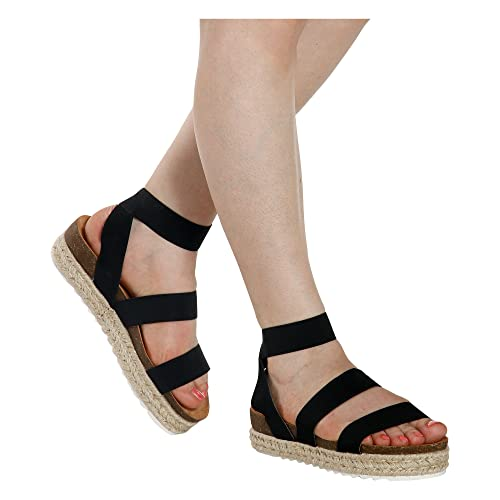 cafcbb2353ae Nature Breeze Kacie-02 Women s Casual Summer Spring Open Toe Espadrille  Wedge Sandals
