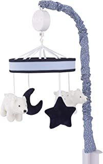 NoJo Cosmo Bear Navy, Light Blue, White & Grey Musical Mobile With Bears, Moon & Stars