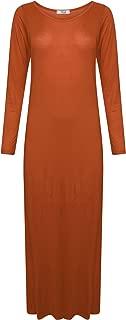 Ladies Long Sleeve Jersey Lightweight Casual Maxi Long Dress Dress US Size 4-22
