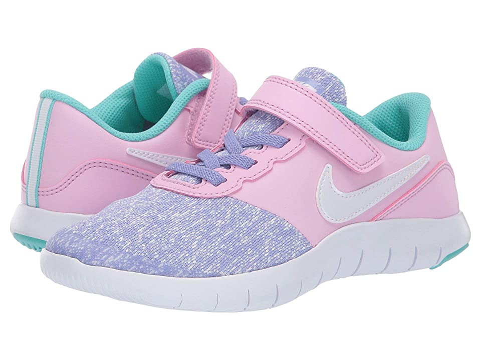 Nike Kids Flex Contact (Little Kid) (Twilight Pulse/White/Light Aqua) Girls Shoes