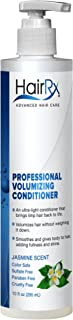 HairRx Professional Volumizing Conditioner with Pump, Jasmine Scent, 10 Ounce