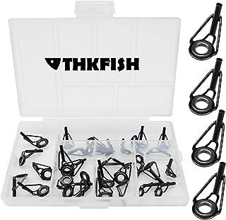 THKFISH 釣り竿のヒントトップガイド ロッドの修理 ロッド 竿パーツ 黒 30個