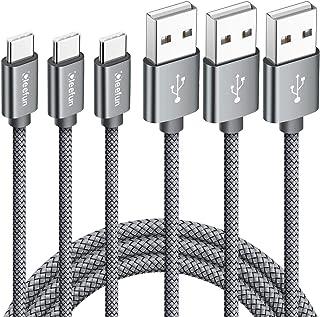 [1m 3本] USB Type C ケーブル CLEEFUN USB-A to USB-C 充電ケーブル 3A急速充電 QC3.0対応 高耐久 ナイロン編み タイプcケーブル Switch, Xperia 1 XZ3 XZ2 XZ1, Gal...