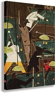 "POOL PARLOR JACOB LAWRENCE CANVAS WALL ART (30"" X 18"" / 75 X 45cm)"