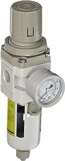 PneumaticPlus SAW3000M-N03BG Air Filter Regulator Combo Piggyback, 3/8