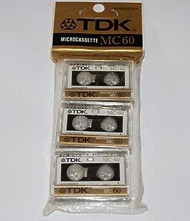 TDK D-MC60U3 Audio Microcassettes With Case - 60 MIN, 3 PK