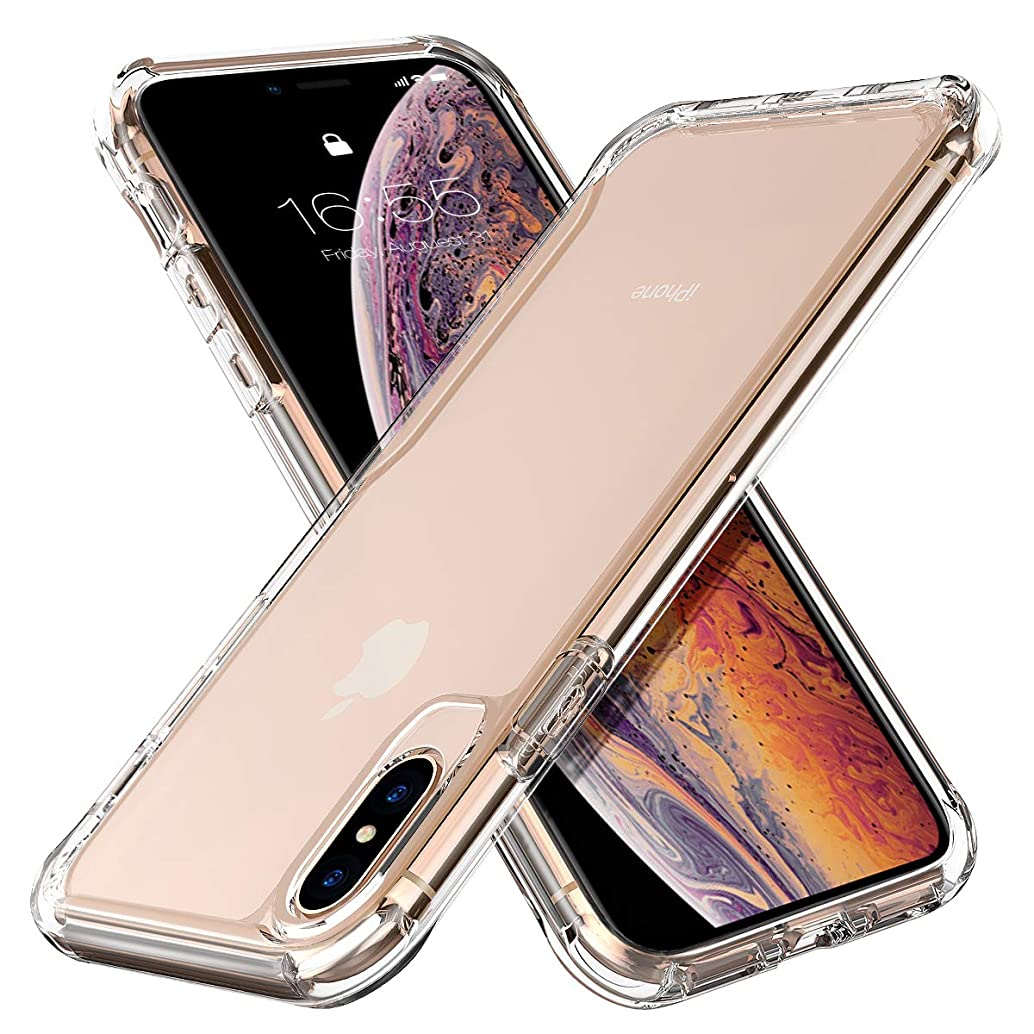 MILPROX iPhone Xs Eye-catching Series, Ultra Thin Slim Transparent Crystal Clear PC Back Cover with Rubber TPU Bumper, Shockproof Anti-Scratch case for iPhone X/iPhone Xs- Clear