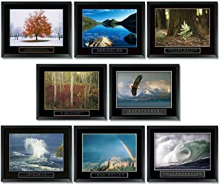 wallsthatspeak 8 Framed Motivational Posters Inspirational Office Decor Collection 22X28