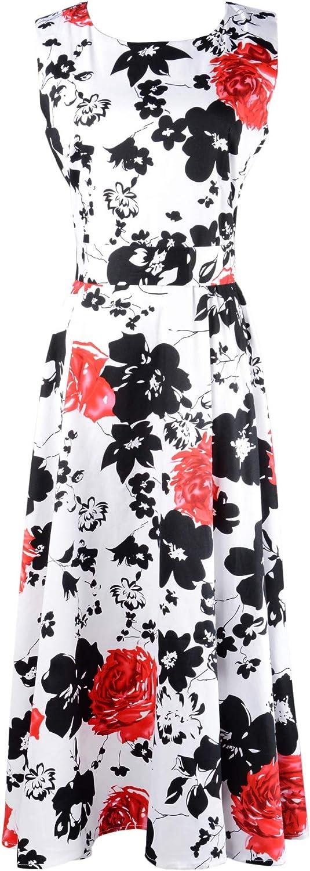 Eyekepper Vintage 1950's Floral Print Rockabilly Swing Dress