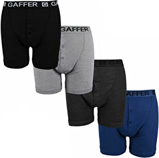 Gaffer Mens Boxers Shorts Underwear Button Fly Elastic Waistband Underpants Trunks