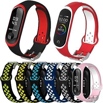Mi Band 4(15pcs) Mi Band 4 Bracelet de Montre en Silicone Protection de lenvironnement Doux et Confortable /Étanche pour Xiaomi mi Band 3 Alinsea Xiaomi mi Band 3