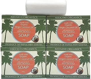 Organic Coconut Oil Soap Bar (Patchouli, 3.5 oz x 4-pack)