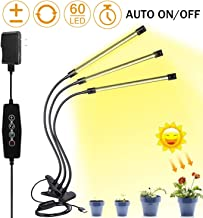 Elaine LED Grow Light for Indoor Plant, Upgraded Version 45W LED Auto ON/Off Timer Full Spectrum Plant Lights 3/6/12H Timing 5 Dimmable Levels for House Garden Hydroponics Succulent Growing