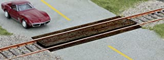 Walthers SceneMaster HO Scale Wood Grade Crossing - Laser-Cut Wood Kit - 2-Pack