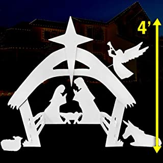 Best EasyGoProducts Outdoor Nativity Scene Set Decoration–Christmas Yard, 4 Foot Review