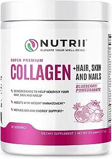 Sponsored Ad - Nutrii Grass-Fed Hydrolyzed Collagen Peptides Protein Powder, Anti-Aging Skin, Joint, Hair, Skin, Supplemen...