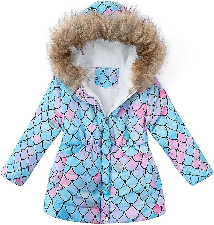 Winter Baby Kids Girls Tie-Dye Thicken J Keep overseas Up Max 52% OFF Zip Hooded Warm