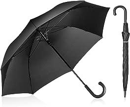 Leebotree Stick Umbrella, Auto Open Windproof Umbrella with 51 Inch Large Canopy Waterproof and J Handle Golf Umbrella for Men Women