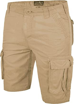 e58898caee WestAce Mens Camo Shorts Cargo Combat Army Half Pant Work Wear Camouflage  100% Cotton Chino