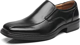 La Milano Mens Slip On Loafer Leather Oxford Bicycle Toe Formal Business Casual Shoes for Men